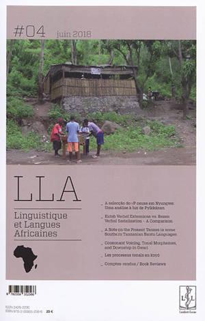 Linguistique et langues africaines. n° 4