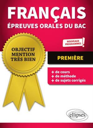 Français, épreuves orales du bac, 1re : nouveaux programmes