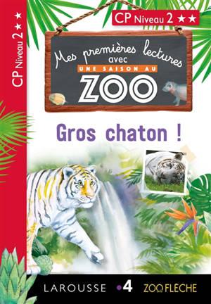 Gros chaton ! : mes premières lectures avec Une saison au zoo : CP, niveau 2