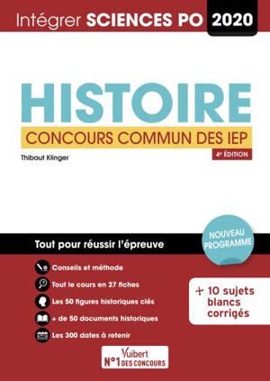 Histoire : concours commun des IEP 2020 : nouveau programme