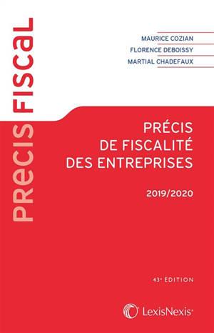 Précis de fiscalité des entreprises : 2019-2020