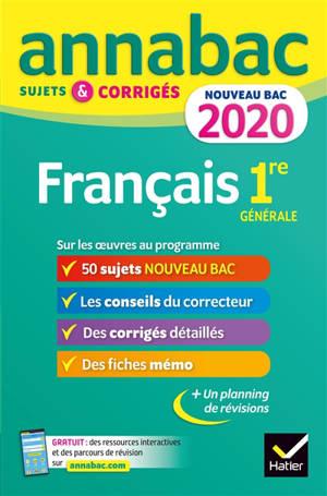 Français 1re séries générales bac 2020 : sujets et corrigés pour le nouveau bac français