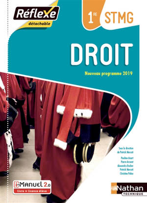 Droit, 1re STMG : i-manuel 2.0, livre + licence élève : nouveau programme 2019