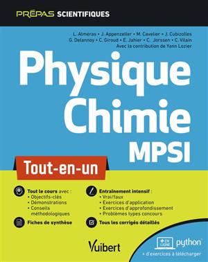 Physique chimie MPSI : tout-en-un