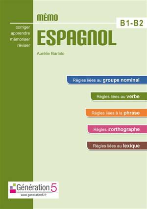 Mémo espagnol B1-B2