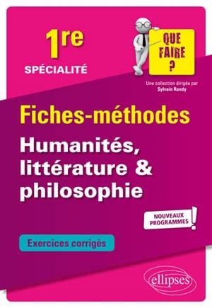 Spécialité humanités, littérature et philosophie 1re : nouveaux programmes
