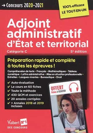 Adjoint administratif d'Etat et territorial, categorie C : concours 2020-2021