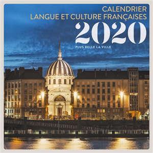 Plus belle la ville : calendrier langue et culture françaises 2020