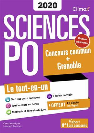 Sciences Po 2020 : concours commun + Grenoble : le tout-en-un, nouveau programme