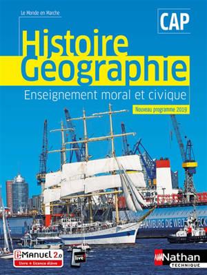 Histoire géographie, enseignement moral et civique, CAP : nouveau programme 2019