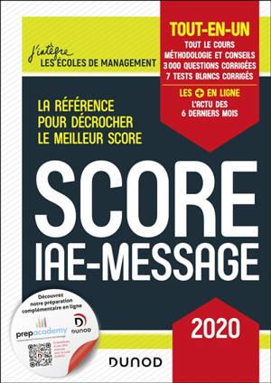 Score IAE-Message : tout-en-un : 2020
