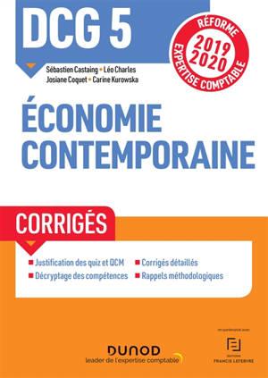DCG 5, économie contemporaine : corrigés
