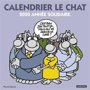 Calendrier Le Chat 2020 : année solidaire