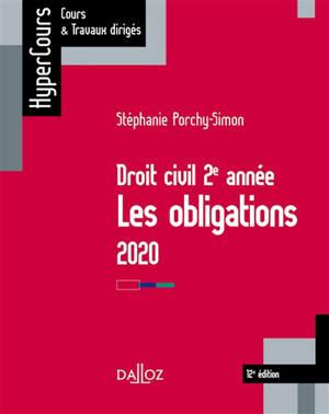 Droit civil 2e année : les obligations : 2020
