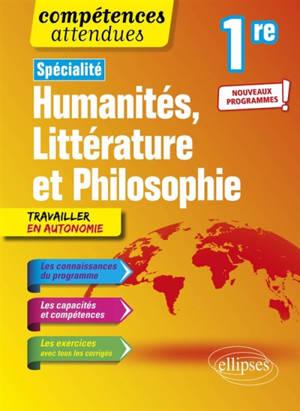 Spécialité humanités, littérature et philosophie, 1re : nouveaux programmes