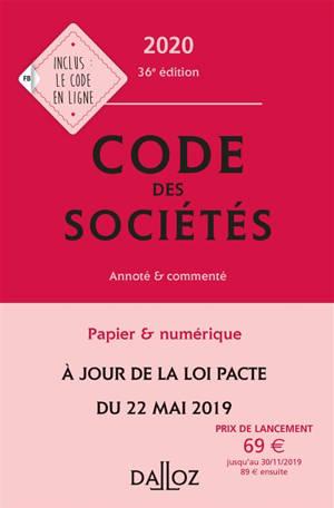 Code des sociétés 2020, annoté & commenté