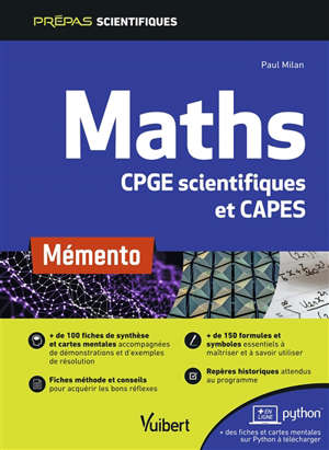 Maths CPGE scientifiques et Capes : mémento