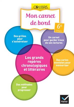Français 6e, cycle 3 : mon carnet de bord