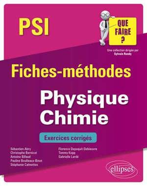 Physique chimie PSI : fiches-méthodes