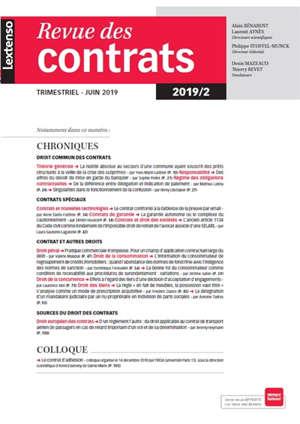 Revue des contrats. n° 2 (2019)
