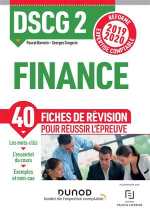 DSCG 2, finance : fiches de révision : réforme expertise comptable 2019-2020