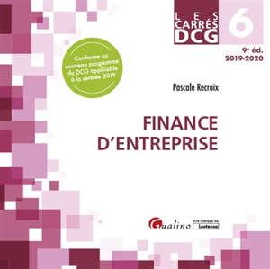 Finance d'entreprise : DCG 6, 2019-2020