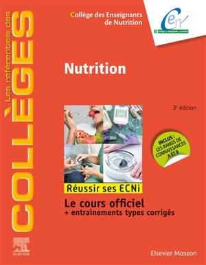 Nutrition : réussir ses ECNi : le cours officiel + entraînements types corrigés