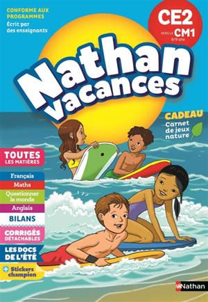 Nathan vacances, CE2 vers le CM1, 8-9 ans : toutes les matières