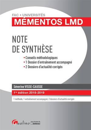 Note de synthèse : 2018-2019