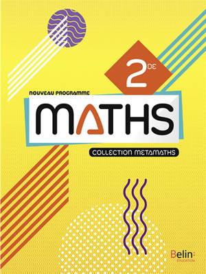 Maths 2de : nouveau programme