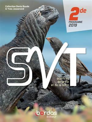 SVT, sciences de la vie et de la Terre 2de : programmes 2019
