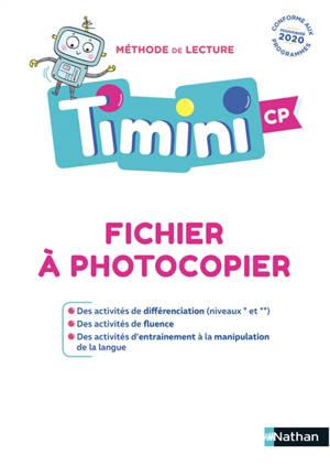 Méthode de lecture Timini CP : fichier à photocopier