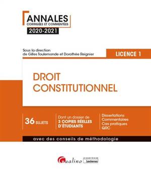 Droit constitutionnel : licence 1 : 2020-2021