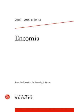 Encomia : bulletin bibliographique de la Société internationale de littérature courtoise. n° 40-42