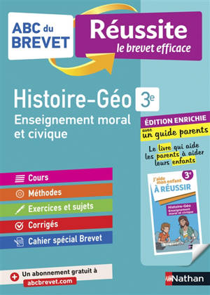Histoire géographie 3e : enseignement moral et civique