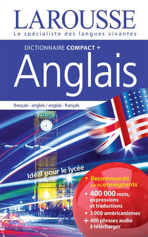 Dictionnaire compact + anglais : français-anglais, anglais-français