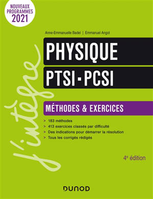 Physique PTSI-PCSI : méthodes & exercices : nouveaux programmes 2021