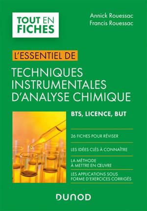 Techniques instrumentales d'analyse chimique : BTS, licence, BUT