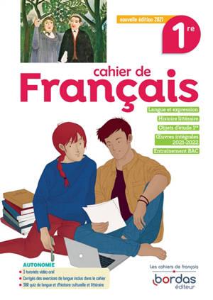 Cahier de français 1re : 2021