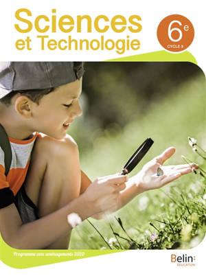 Sciences et technologie 6e, cycle 3 : programme avec aménagements 2020