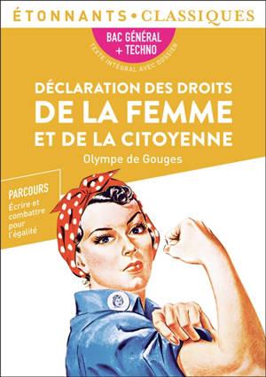 Déclaration des droits de la femme et de la citoyenne : bac général + techno