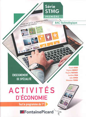 Activités d'économie, série STMG première, bac technologique : enseignement de spécialité