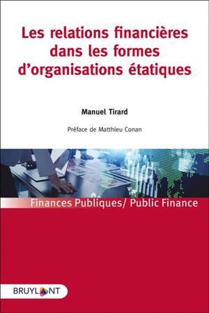 Les relations financières dans les formes d'organisations étatiques