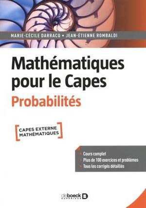 Mathématiques pour le Capes, Probabilités