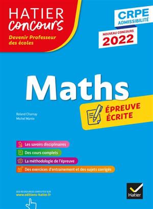Maths : épreuve écrite d'application : CRPE admissibilité, nouveau concours 2022