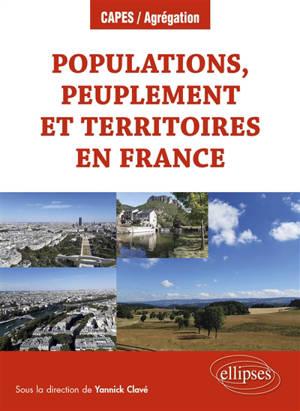 Populations, peuplement et territoires en France
