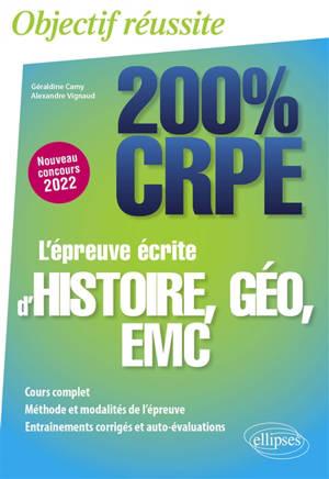 L'épreuve écrite d'histoire, géo, EMC : nouveau concours 2022