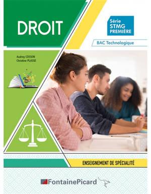 Droit, série STMG première : enseignement de spécialité : bac technologique