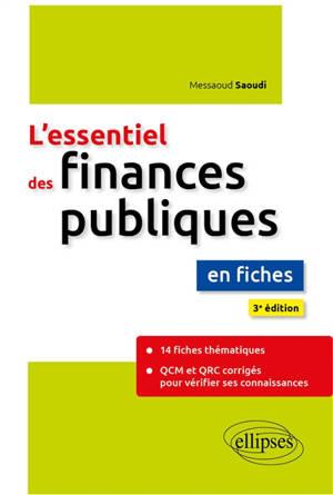 L'essentiel des finances publiques : en fiches