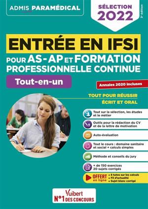 Entrée en IFSI pour AS-AP et formation professionnelle continue : tout-en-un : sélection 2022